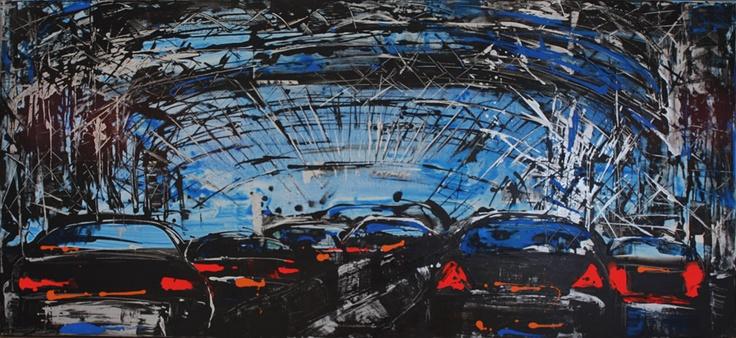 """Mina Papatheodorou Valyraki: """"Bridge in sky blue"""", 2011"""