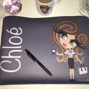 HunniBunni Babes Personalised Fabric Laptop Case