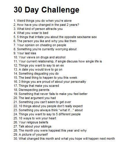 I was bored, so i found this, and im not gonna do one question per day, ill probably do it all at once, but ima express each answer with a pin and see how it goes.