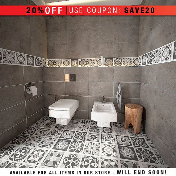 Flooring - Floor Tiles - Floor Decor - Vinyl Tile - Floor Vinyl - Tile Decals - bathroom tile decal - kitchen tile decal  PACK of 32 Patterns Tile Stickers  <-----------------------------------LINKS----------------------------------->  To view more Art that will look gorgeous on Your Walls Visit our Store: https://www.etsy.com/shop/homeartstickers  For more Tile Decals Stickers visit our TILES STICKERS SECTION: https://www.etsy.com/shop/homeartsti...