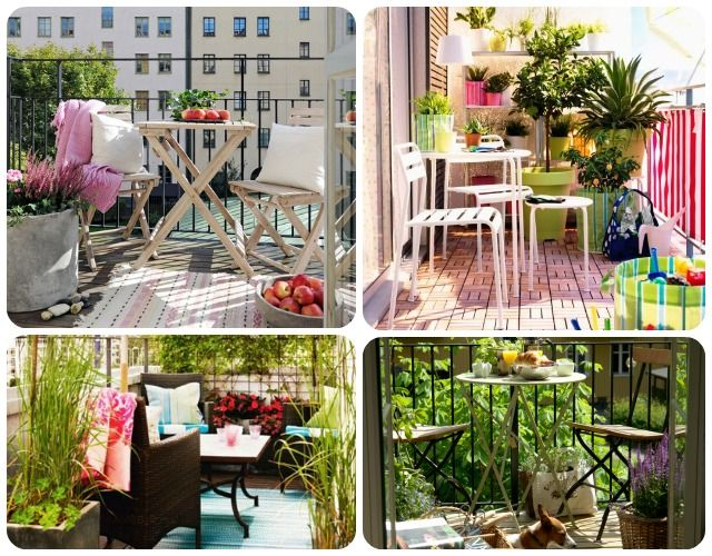 137 best decoraci n de jardines images on pinterest - Decoracion balcones pequenos ...