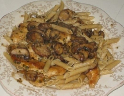 Chicken marsala is a very rich dish that consists of sauteed chicken, mushrooms, and usually garlic simmered in a delicious marsala wine sauce. It's normally served over pasta. It sounds like a lot of work, like something you'd serve only on special...