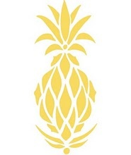 pineapple motif - Pineapples are the universal symbol for hospitality