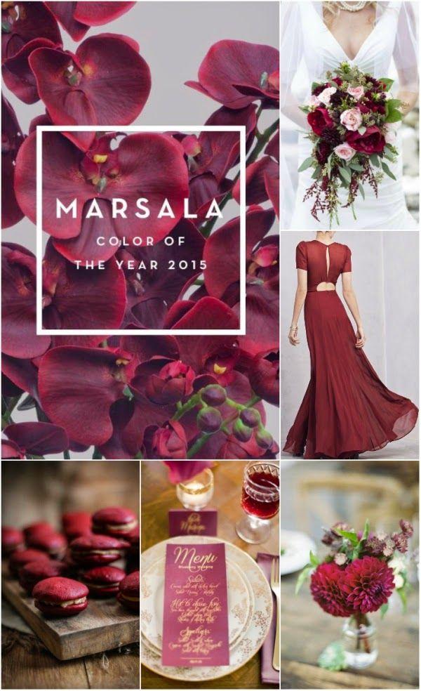 2015 pantone color: Marsala # winter wedding color # autumn wedding color #