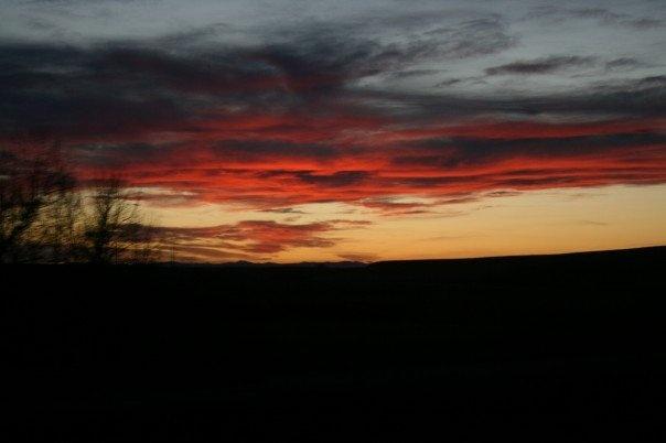 sunset Lethbridge Alberta