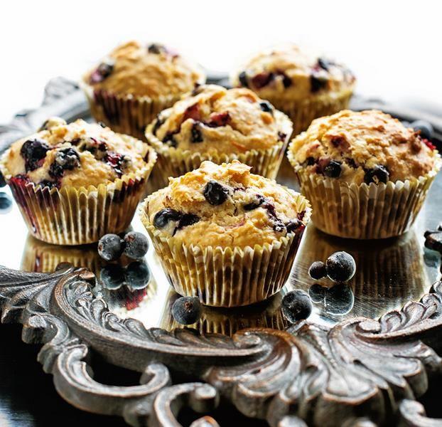 Muffiny s  ovsenými  vločkami