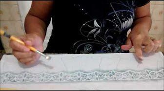 Pintura com stencil ( falso barrado ) - YouTube