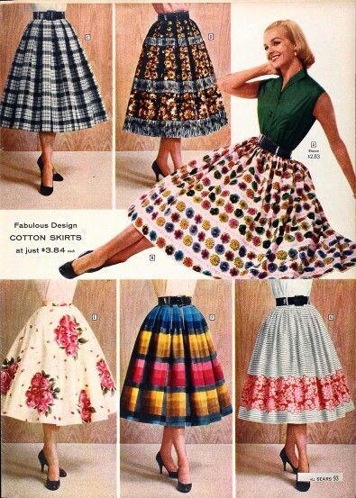1950s skirts @ sears mad men style. BETTY DRAPER.