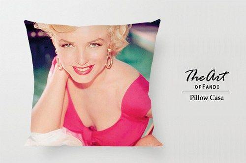 "Marilyn Monroe - Custom Square 18""x18"" One Side Pillow Case"