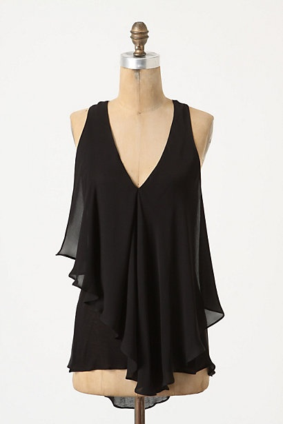 size L: Flowing Racerback, Anthropology, Shirts, Clothing, Pretty Tops, Black Tops, Gold Jewelry, Summer Tops, Racerback Tanks