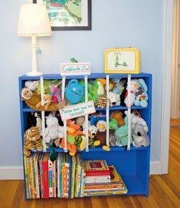 Tu Organizas.: Organize a casa com elástico Para guardar os bichos de pelúcia I.