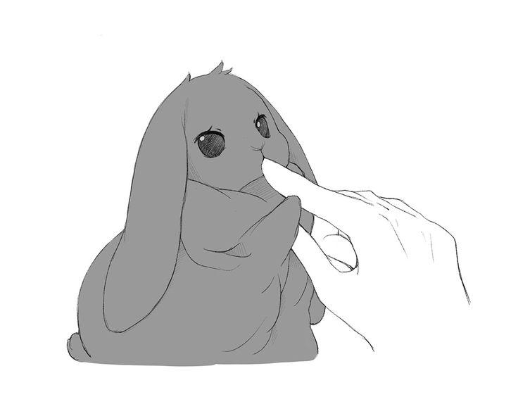 Картинки кролика манга