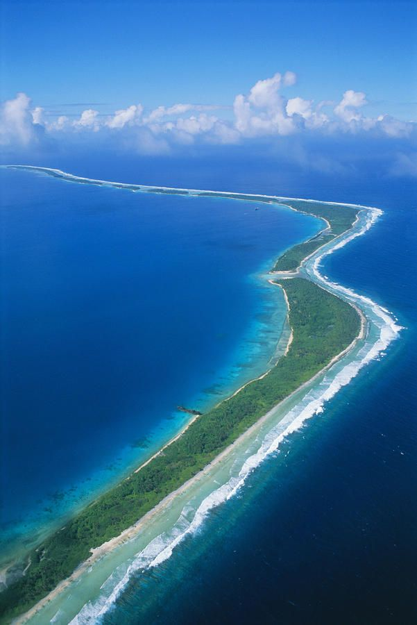 ✮ Micronesia - Aerial over Jaluit atoll and lagoon