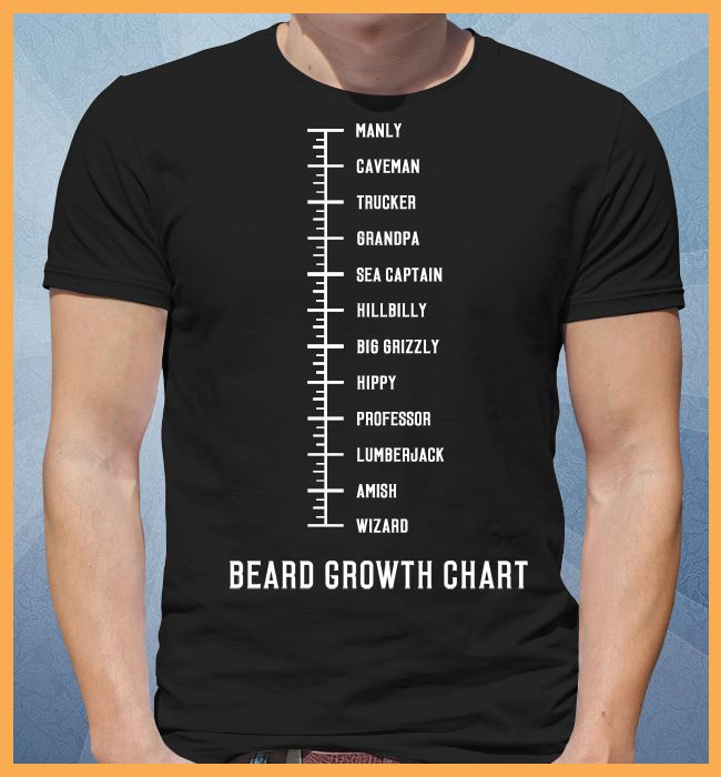 Beard Growth Chart Tee $22.50 http://tshirtyou.com/beardchart/?tid=rt1&shirt=3