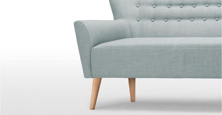 Quentin 2 Seater Sofa in glacier blue | made.com