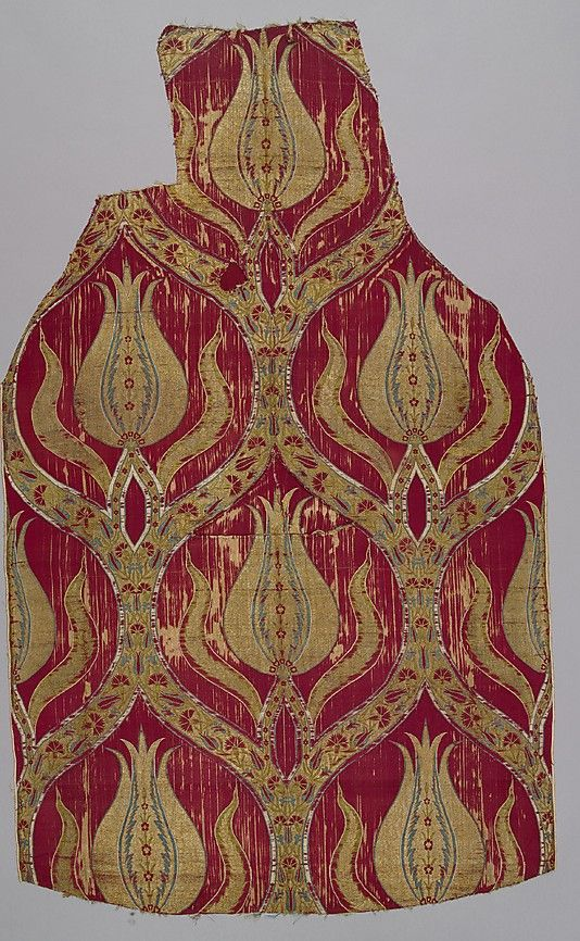 16th Century (Bursa, Turkey) • silk textile fragment