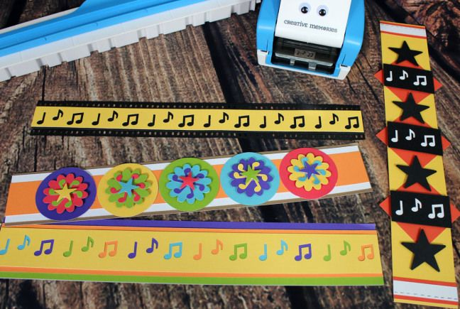 Totally fantastic page borders created using the new Music Notes Border Maker Cartridge! blog.creativememories.com #CreativeMemories #Scrapbooking