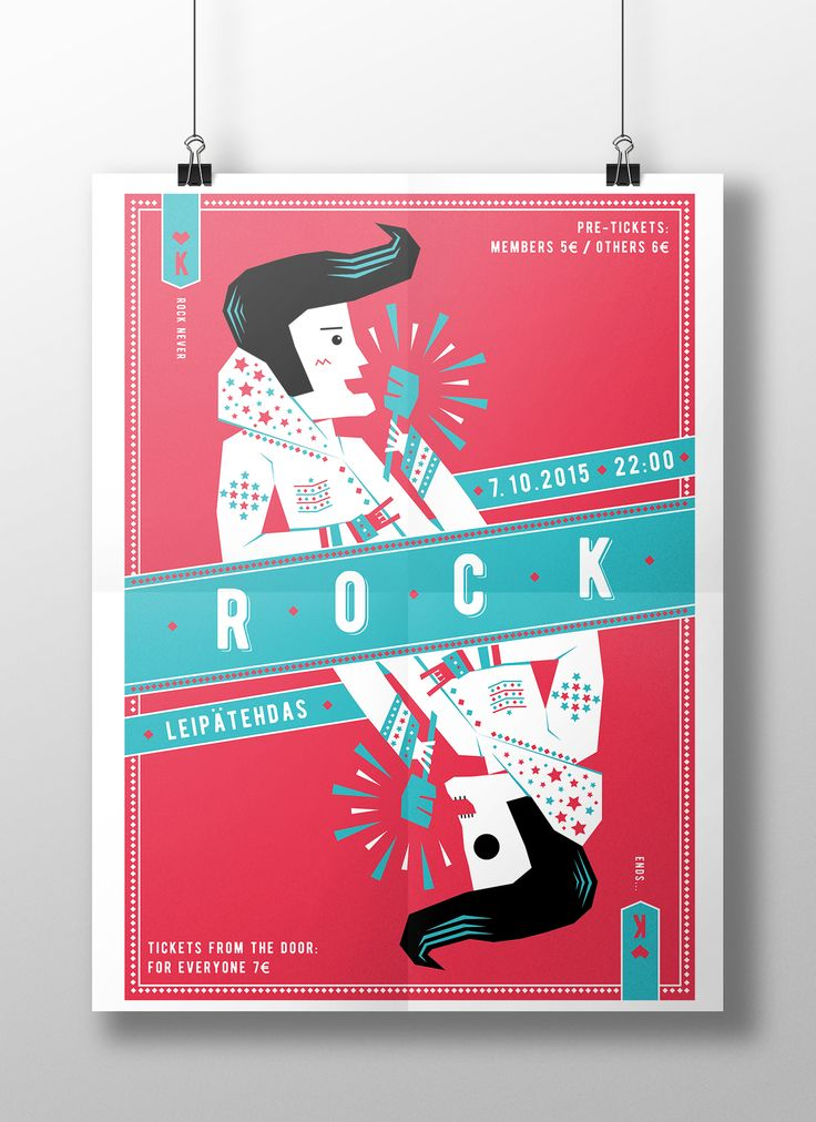 Rock never ends on Behance