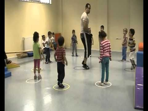 SPORAMCA Özel Çocuklar Ve Okulöncesi Spor( warm up with simple things, robe. - YouTube