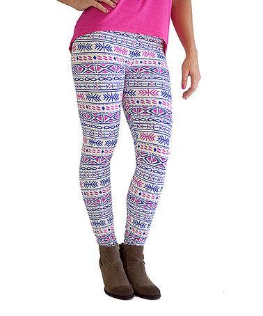 Love this Blue & Pink Snowflake Leggings - Women on #zulily! #zulilyfinds