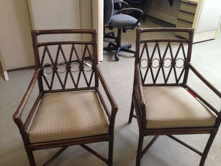 ***LOT OF 2 BAMBOO PALACE ARM CHAIRS by FICKS REED ITEM # 2000CU***