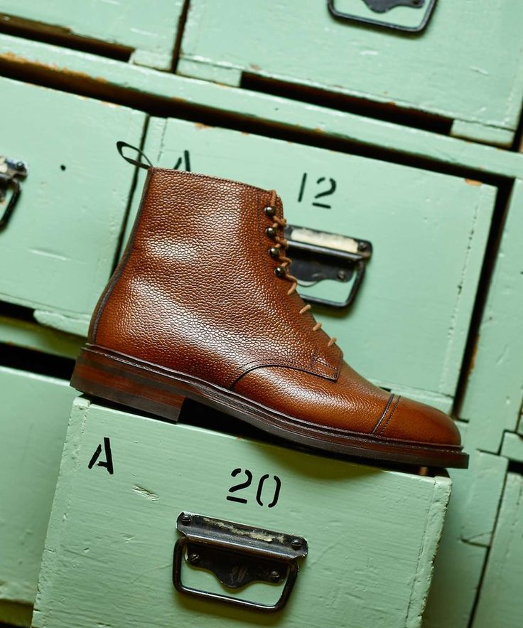 Made in England this Derby Boot made from scotch grain leather, is constructed with Dainite rubber soles and a storm welt. The Conistonis aperfectall weatherboot, due to an added storm welt which is designedto keep water from getting into the footwear and soaking the sole.  These shoes are UK sized, please size down for correct fit (i.e. if you're a US 10, purchase a UK 9.5).  Storm Welt Daninte rubber sole Grained leather Made in England
