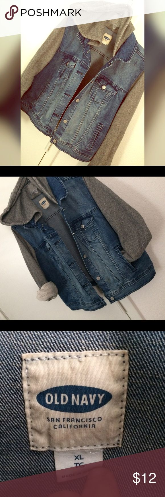 Hooded Jean Jacket Excellent condition, comfy and cute! Old Navy Jackets & Coats Jean Jackets