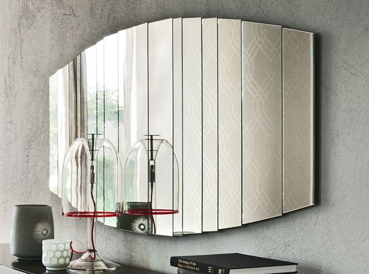 Stripes Modern Oblong Wall Mirror by Cattelan Italia - $1,550.00