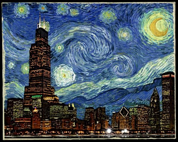 Starry Night Chicago Love This Like This Pinterest