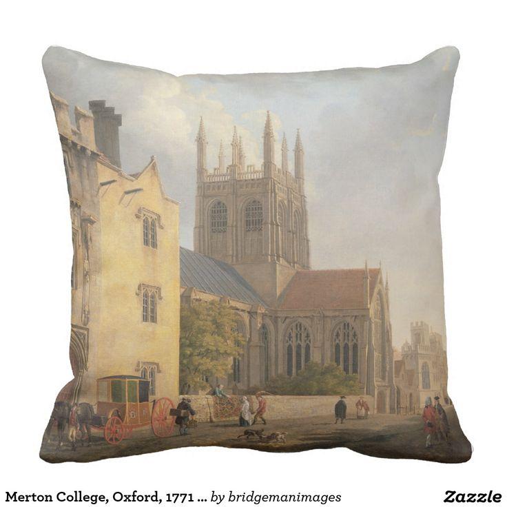 De Universiteit van Merton, Oxford, 1771 (olie op Sierkussen