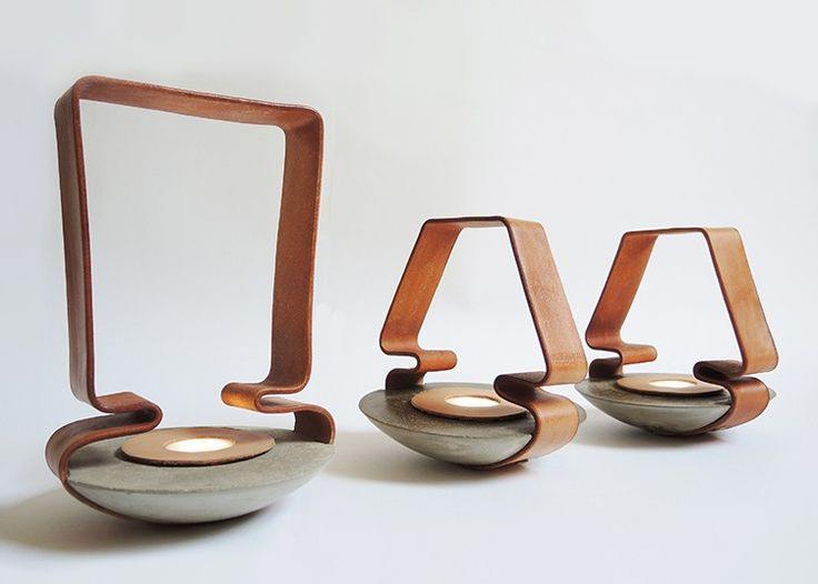 Katharina Eisenkoeck combines leather with lightweight concrete to create lamps that are beautiful and durable. Designers worldwide are exploring the tactile quality of leather when used as a lighting component