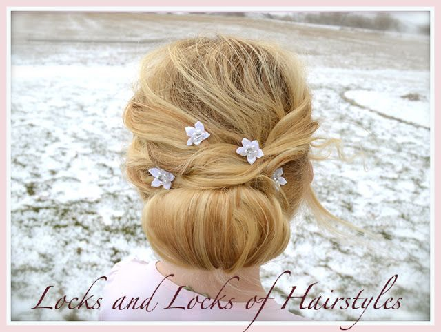 Locks and Locks of Hairstyles: Quick and Easy Video Tutorials: Beautiful Up-Do Perfect for Short Thin Hair