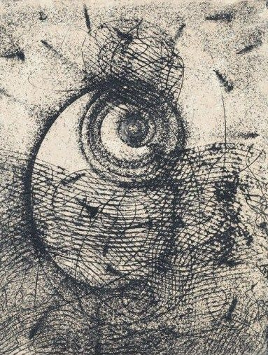 Homage a Rimbaud. Max Ernst. Eyeballs are always disconcerting, but I love the texture.