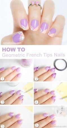 french tips nail art tutorial – SoNailicious