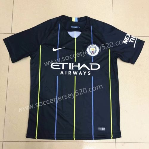 3838055b0 2018-19 Manchester City Away Black Thailand Soccer jersey AAA ...