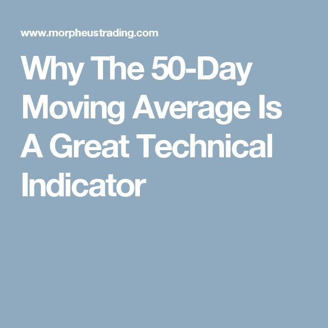 Why The 50-Day Moving Average Is A Great Technical Indicator