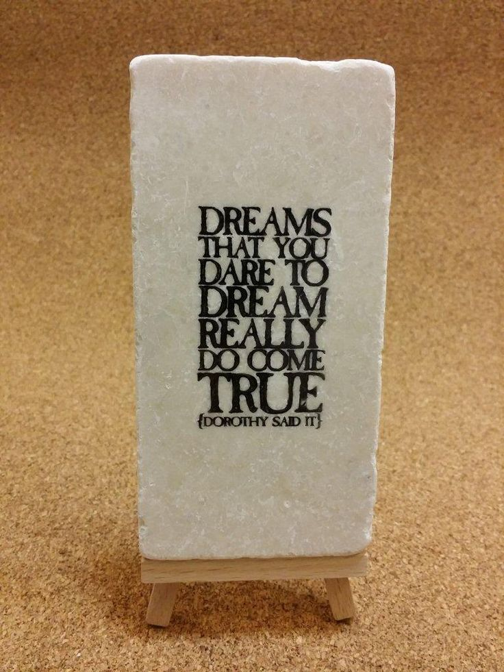Hand-Stamped inspirational quotes on tumbled Botocino marble!  www.marbledinspirations.ca