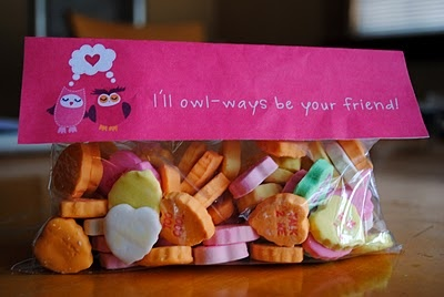 "Valentine's Day Treat Topper Printables: *""'Ill owl-ways be your friend!""  *""Owl love you forever!""  &  *Valentine love birds."