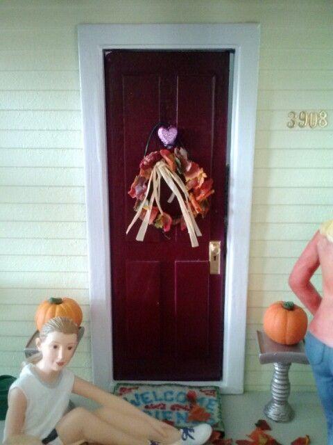 Fall wreath, getting ready for fall at the farmhouse