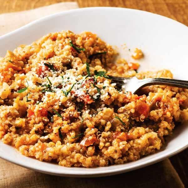 Sun-Dried Tomato Quinoa Risotto