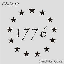 "Free Primitive Star Stencil | Americana STENCIL 1"" Circle Stars Patriotic 1776 Primitive Betsy Ross ..."
