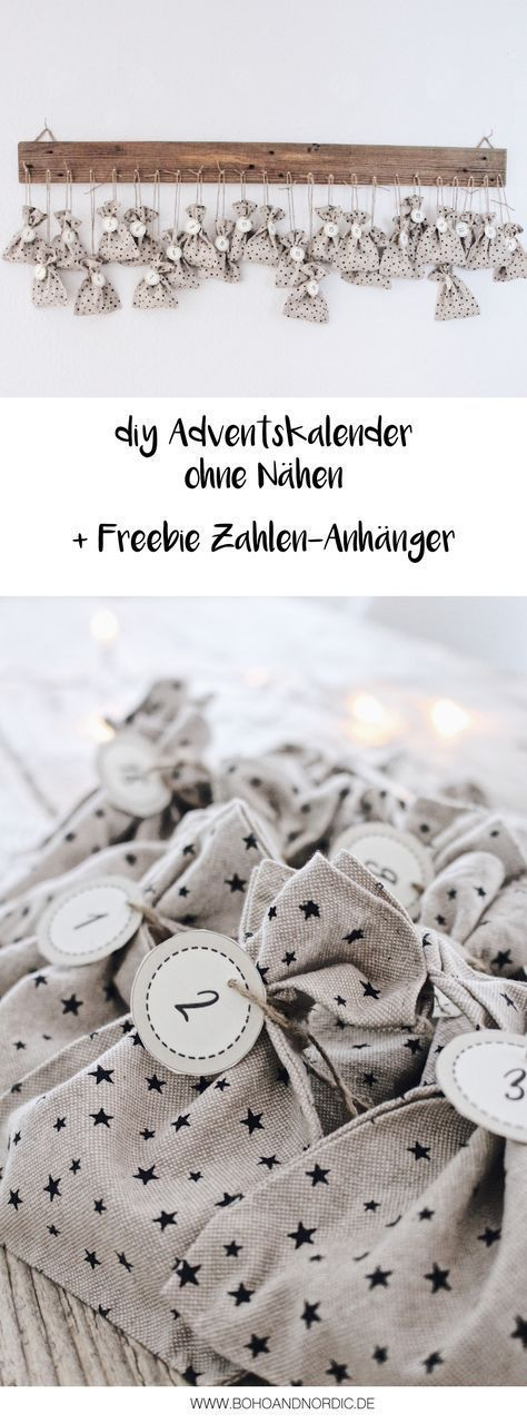DIY Adventskalender basteln + Freebie Zahlen zum Ausdrucken