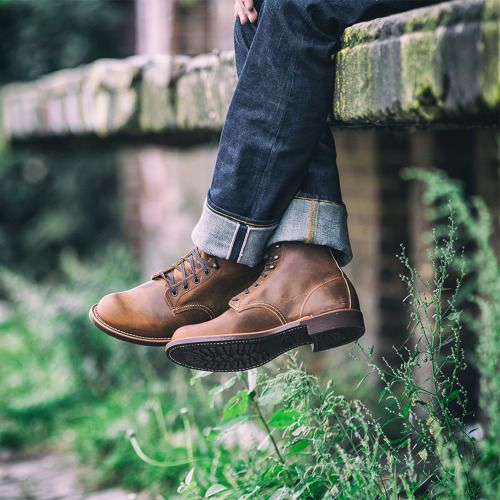 """mycultizm: """" Versatile and reliable, this style of shoe was originally used in farm fields and blacksmith workshops during the day before being cleaned and shined up for a night out on the town. Today, the Blacksmith is built using premium Red Wing..."""