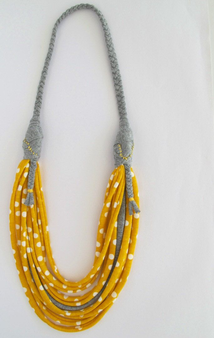Up-cycled T-shirt Necklace