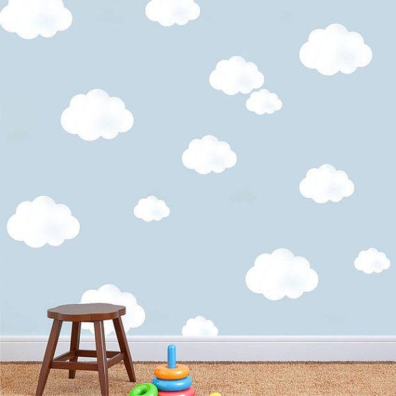 Single cloud stencil art craft home decor nursery by IdealStencils