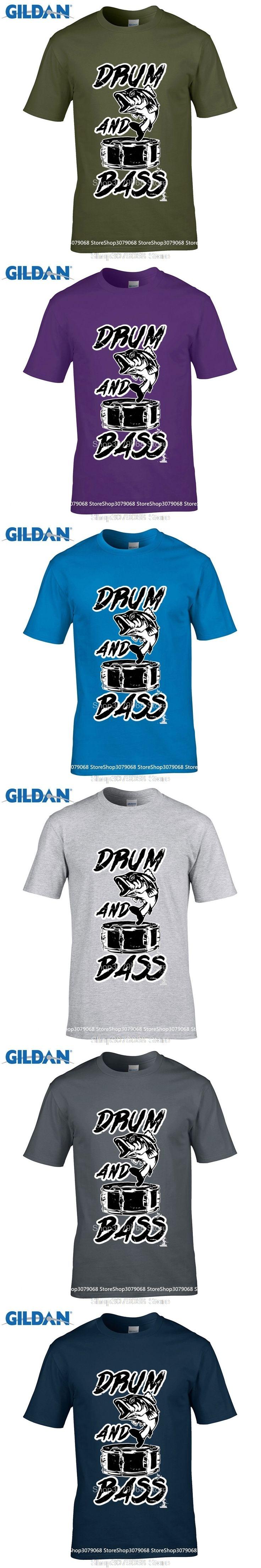 GILDAN Game Shirt Short Crew Neck Drum Bass Fish Jumping Out Of A Speaker Dance Music Gift Present Zomer Mens T Shirts