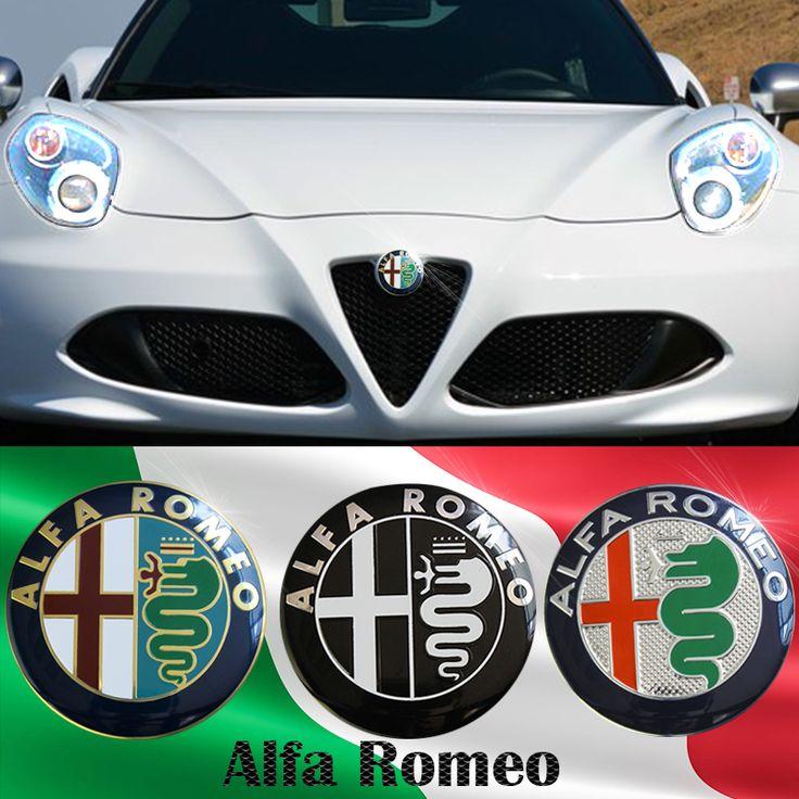 """מבצעים 74 מ""""מ רכב סטיילינג צבע עבור אלפא רומיאו לוגו צלב אדום מדבקת תג סמל מיטו 147 156 159 166"""