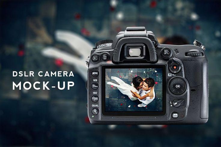 Free DSLR Camera Mockup