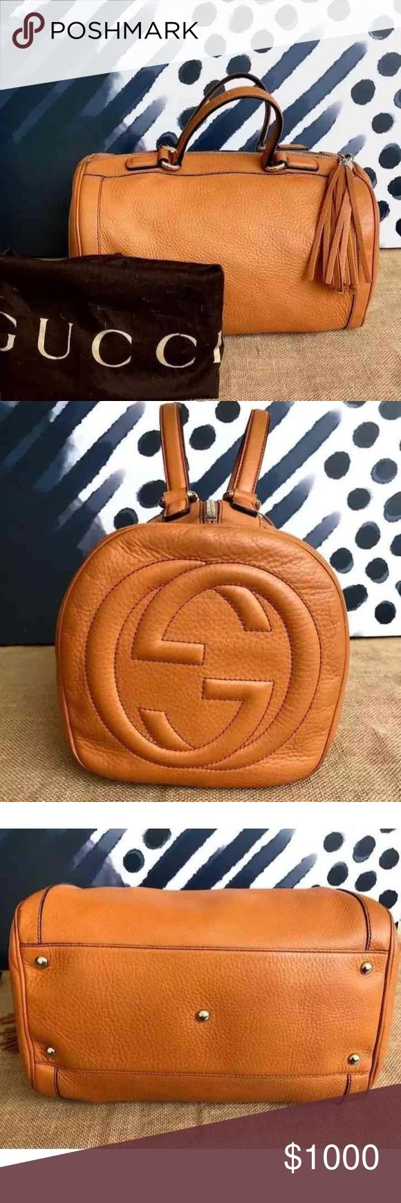 Gucci leather Boston Soho Authentic gently used and well cared for. Originally $1700 #guccisoho #gucciboston Gucci Bags Satchels