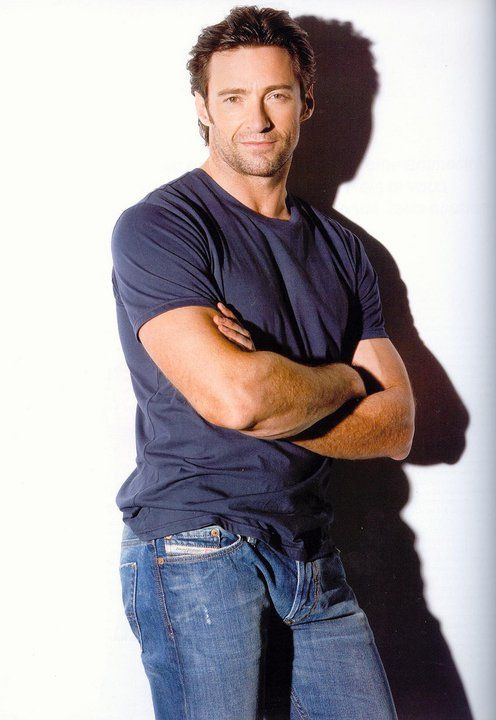 Hugh Jackman. Blue jeans and t-shirts were invented for him.